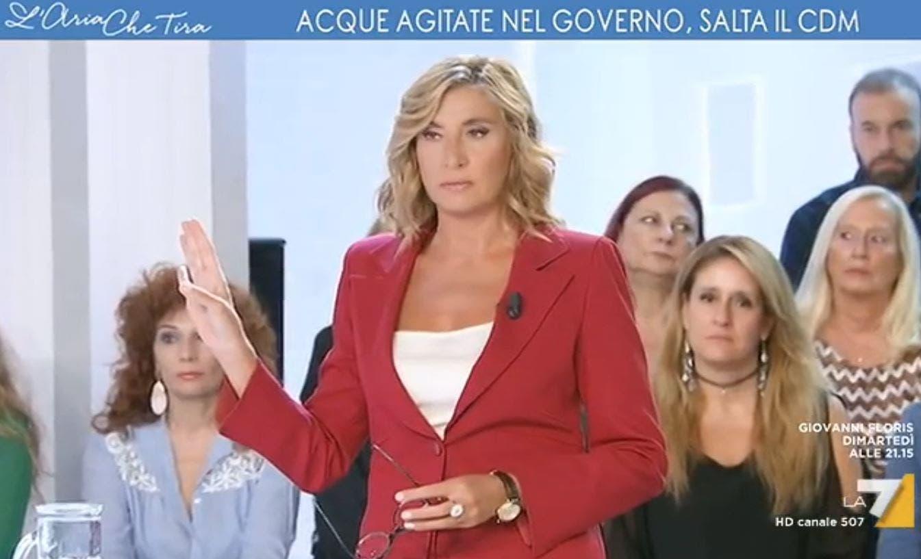 La7, Myrta Merlino e la frecciata a Salvini: «Anche a lui no
