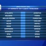 Serie A, tredicesima giornata