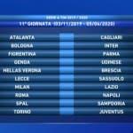 Serie A, undicesima giornata