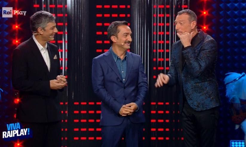 Fiorello, Nicola Savino e Amadeus