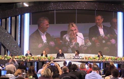 Antonella Clerici commossa alla Conferenza Stampa