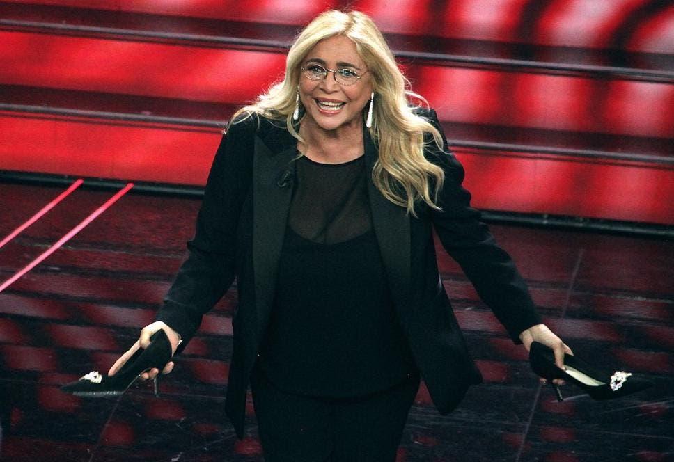Mara Venier al Festival di Sanremo (da US RAI)