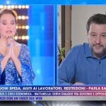 Barbara D'Urso, Matteo Salvini