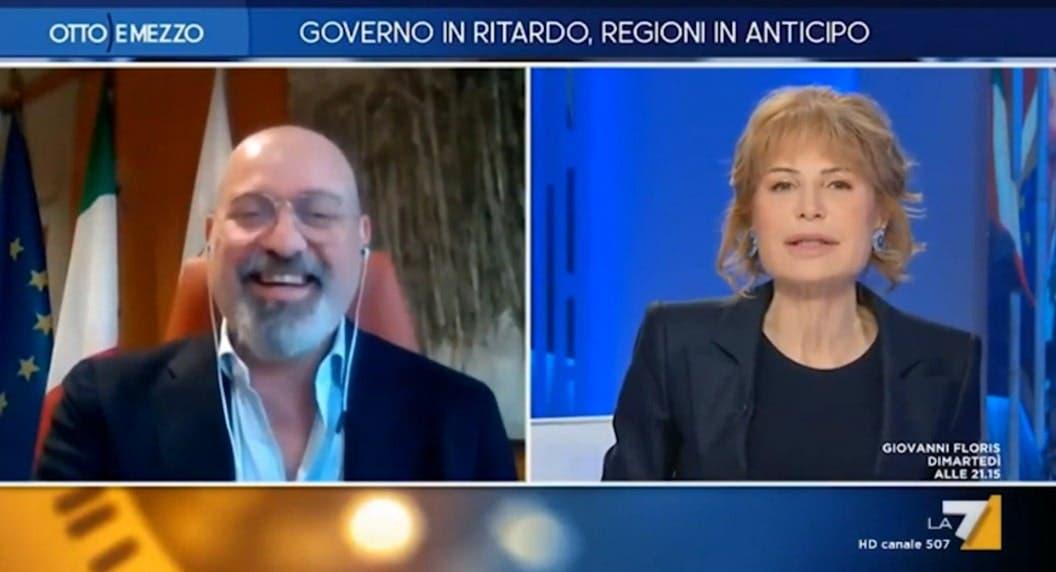 Stefano Bonaccini e Lilli Gruber