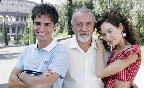 Nicolas Vaporidis, Giorgio Faletti e Cristiana Capotondi in Notte prima degli esami