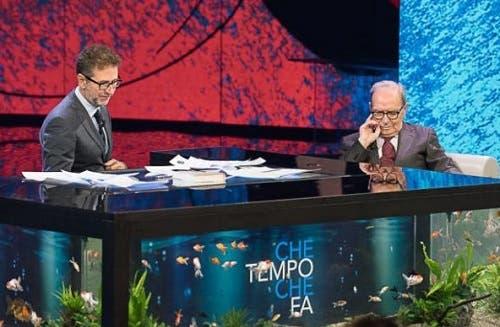 Fabio Fazio ed Ennio Morricone