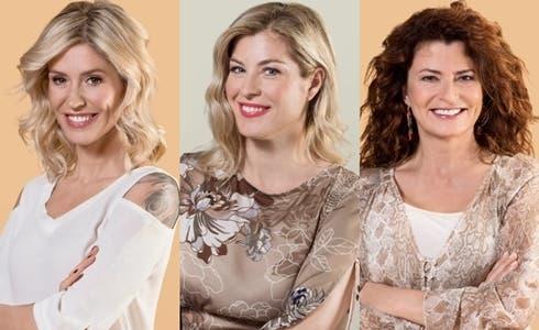 Marina Graziani, Daniela Bello e Carlotta Pisoni Brambilla (foto QVC)
