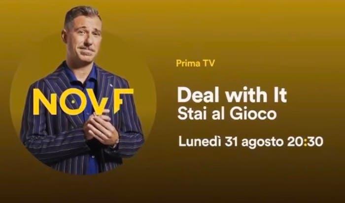 Deal With It: Gabriele Corsi apre la stagione il 31 agosto sul Nove