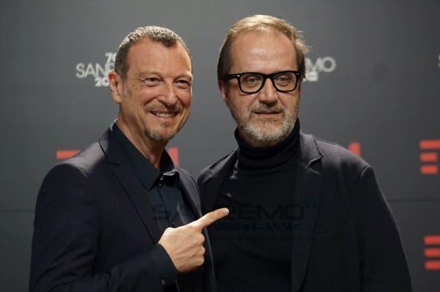 Amadeus e Stefano Coletta