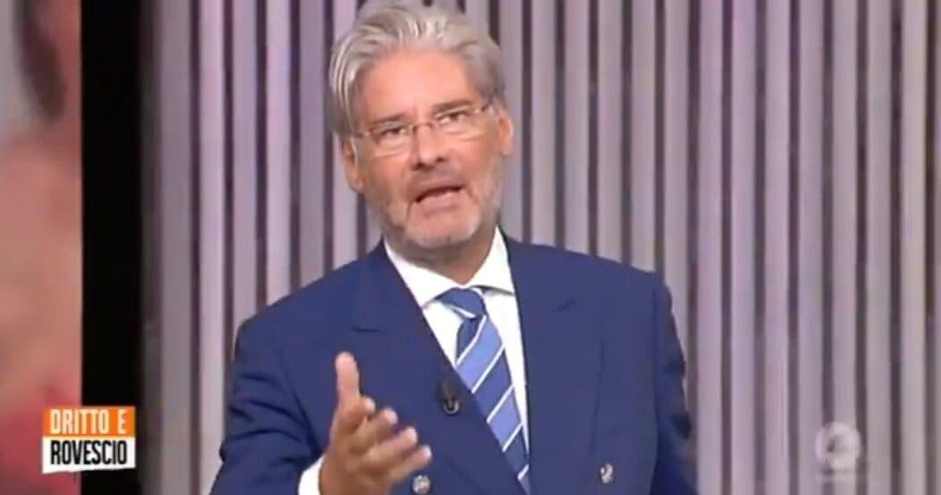 Dritto e Rovescio |  Paolo Del Debbio lancia la pubblicità |  «Non cambiate canale  Che ca**o di trasmissione andate a guardare?»