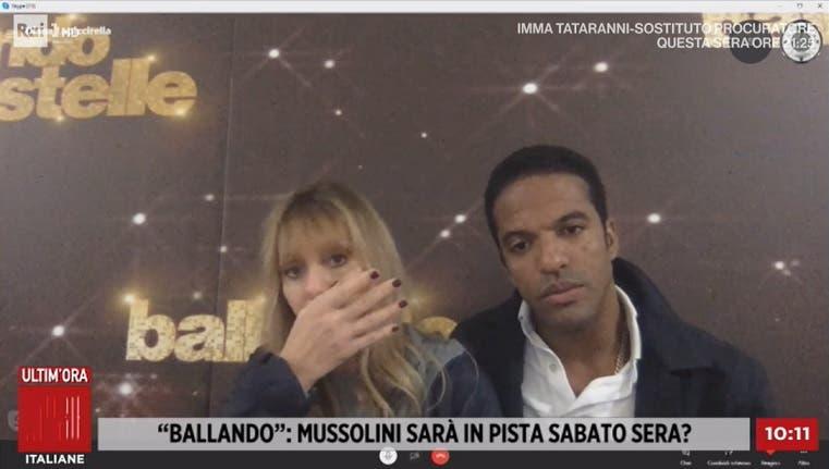 Alessandra Mussolini e Maykel Fonts