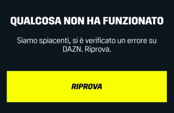 DAZN non funziona durante Jventus-Cagliari