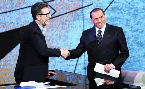 Fabio Fazio e Silvio Berlusconi