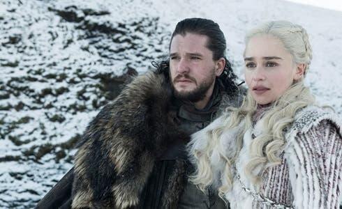 Jon Snow e Daenerys Targaryen in Il Trono di Spade