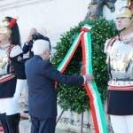 Sergio Mattarella all'Altare della Patria