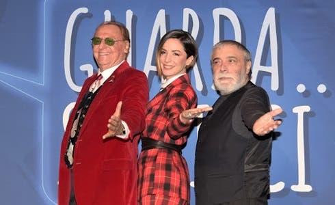 Renzo Arbore, Andrea Delogu e Nino Frassica