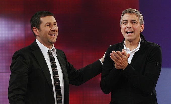 Fabio Fazio e George Clooney