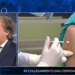 Che tempo che fa, vaccinazione in diretta