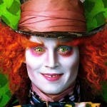 Iohnny Depp in Alice in Wonderland