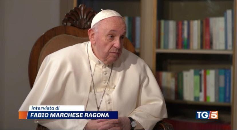 Papa Francesco intervistato da Fabio Marchese Ragona per il Tg5