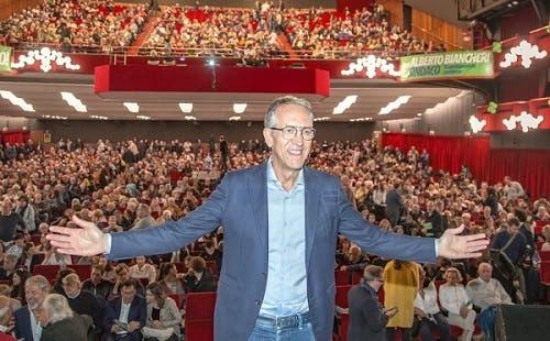 Alberto Biancheri, sindaco di Sanremo, al Teatro Ariston