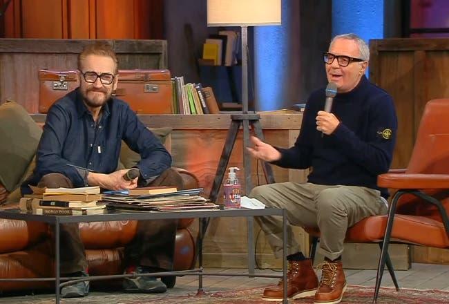 Marco Giallini e Giorgio Panariello sul set