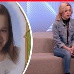 Olesja Rostova da piccola e oggi