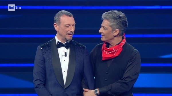 Amadeus e Fiorello - Finale Sanremo 2021