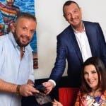 Gai Mattiolo con Amadeus e Giovanna Civitillo - da Instagram