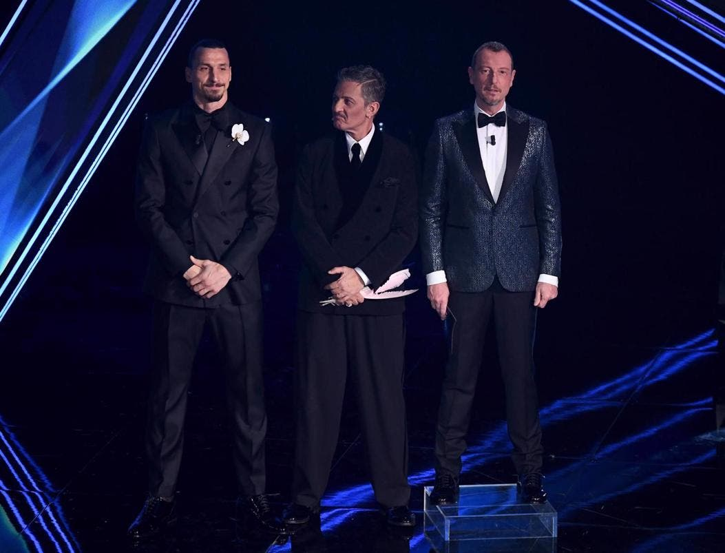 Ibrahimovic, Fiorello e Amadeus