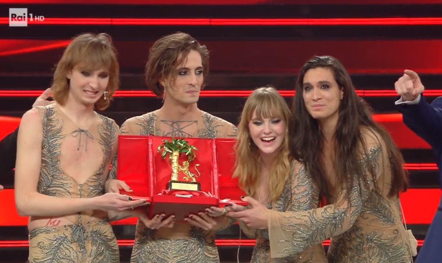 I Maneskin vincono il Festival di Sanremo 2021