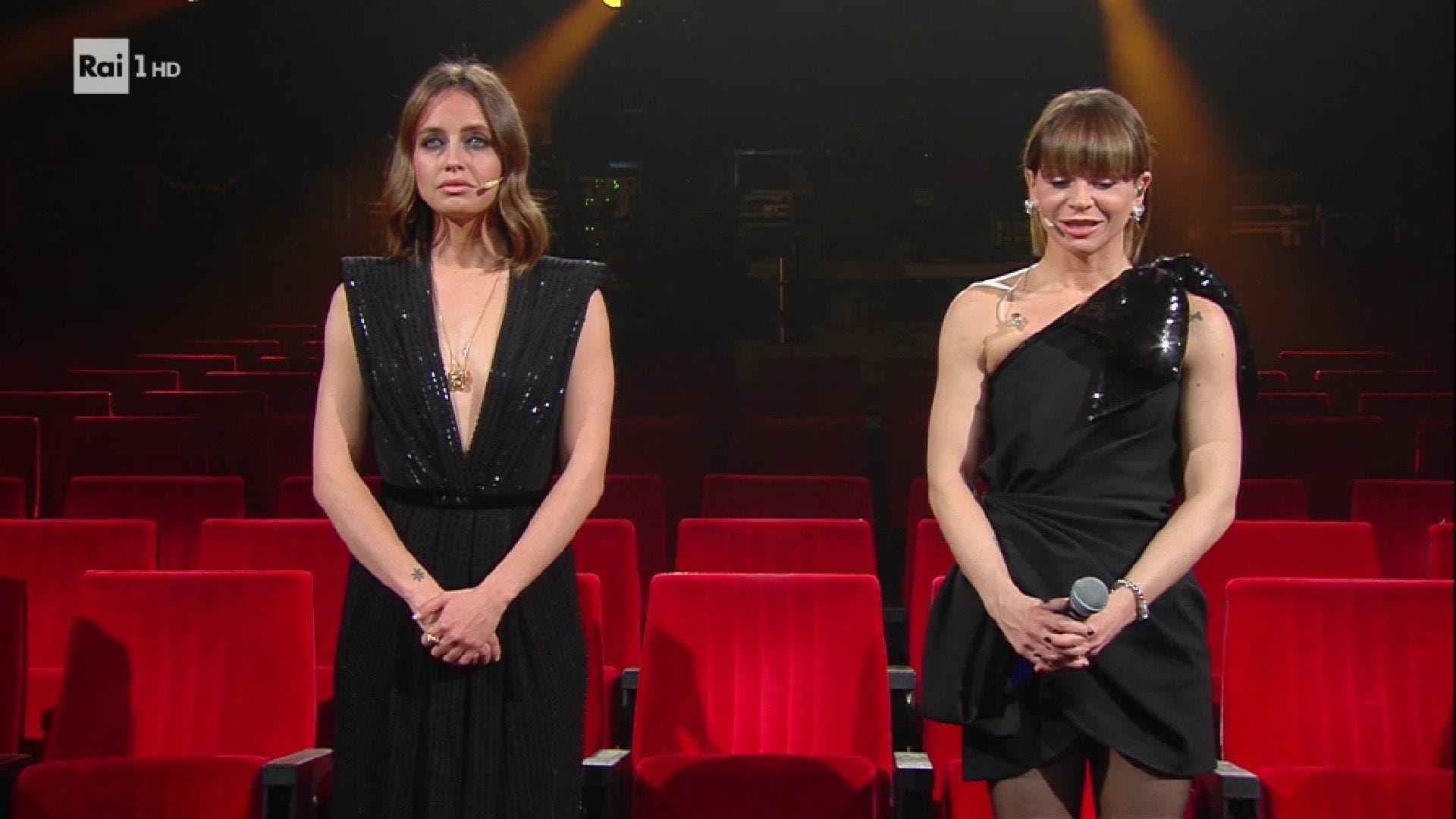 Matilde Gioli e Alessandra Amoroso - Quarta serata Sanremo 2021 (da RaiPlay)