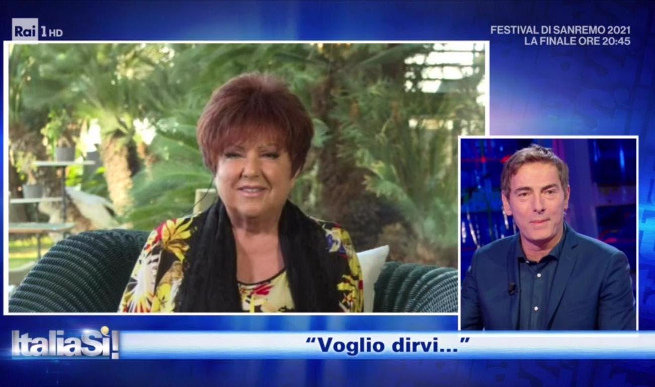 Orietta Berti in collegamento con Marco Liorni