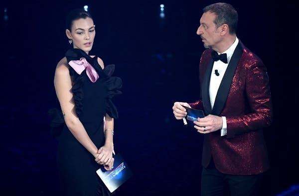 Vittoria Ceretti e Amadeus - Sanremo 2021
