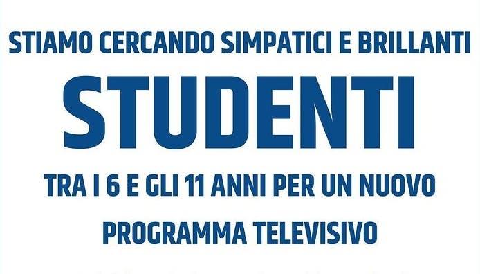 Casting nuovo programma Italia 1