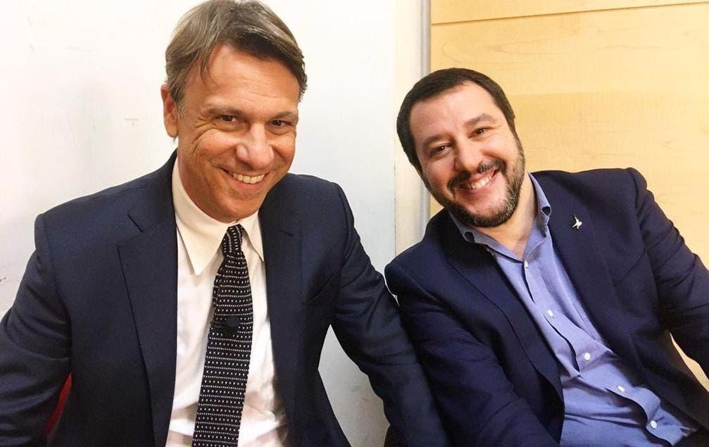 Nicola Porro con Matteo Salvini