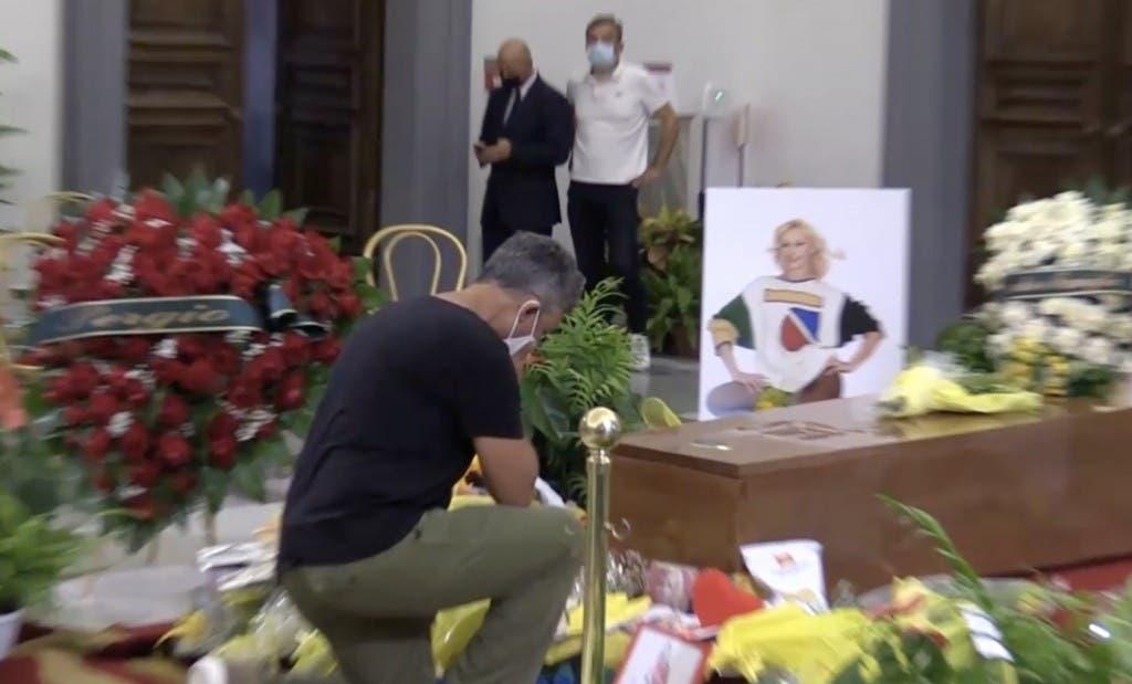 Raffaella Carrà, Fiorello alla Camera Ardente