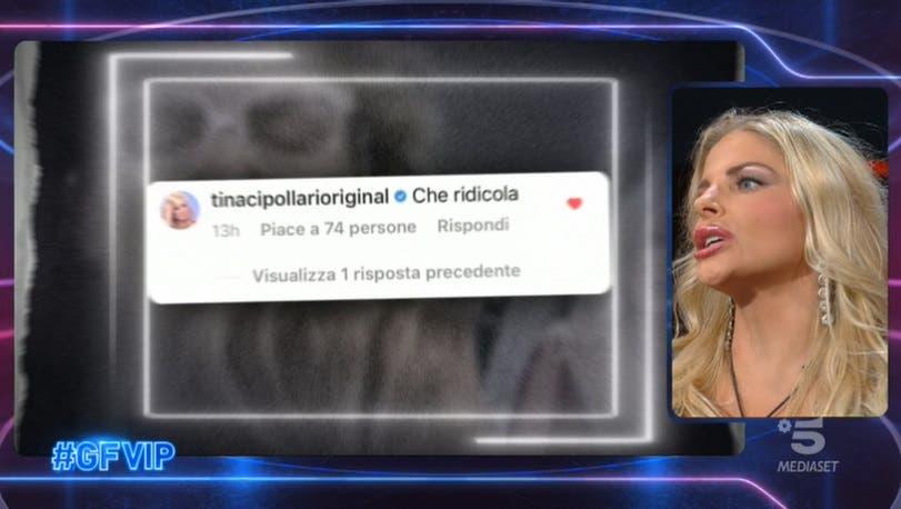 Francesca e il post di Tina - GF Vip 2021