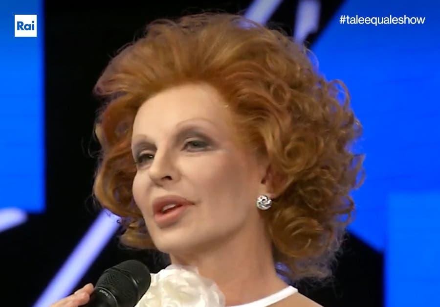 Tale e Quale Show - Alba Parietti nei panni di Ornella Vanoni