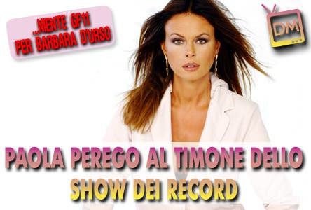 Paola Perego (Show dei Record, Guinness World Record)