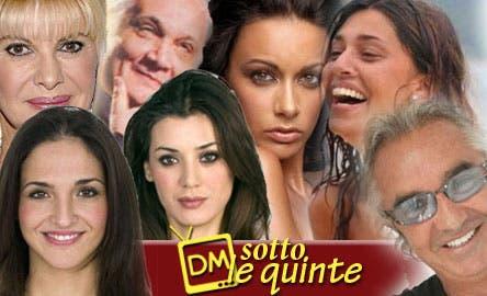DM Sotto le Quinte (Ivana Trump, Cesare Lanza, Melita Toniolo, Belen Rodriguez, Flavio Briatore, Daniela Martani, Lina Carcuro)
