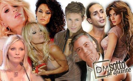 George Clooney, Pamela Anderson, Raffaella Fico, Barbara Berlusconi, Fabrizio Corona