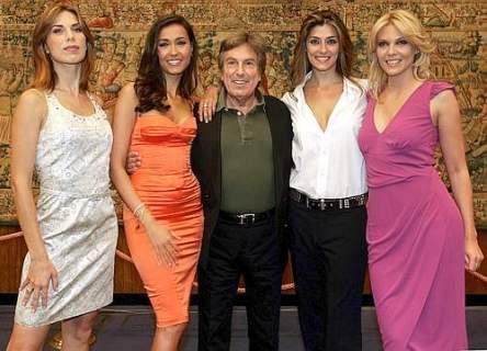 Fabrizio Del Noce con Veronica Maya, Caterina Balivo, Elisa Isordi ed Eleonora Daniele