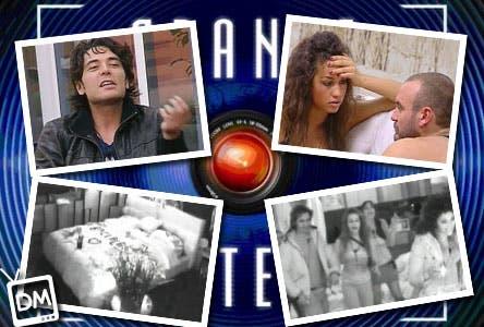 GRANDE FRATELLO 10 BACI MARA ALBERTO CARMEN DANIELE MAICOL GIORGIO