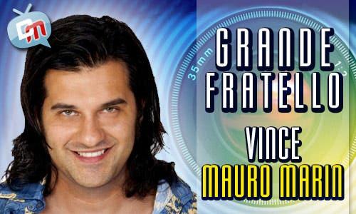 da80abd25e MAURO MARIN VINCE IL GRANDE FRATELLO 10