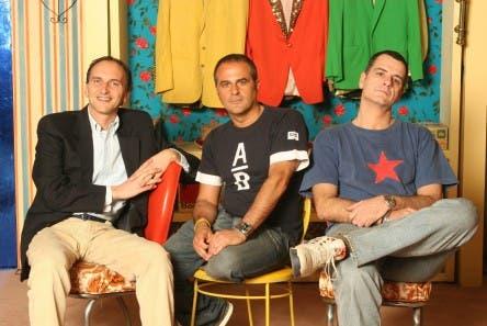 Gialappa's Band (da sinistra: Carlo Taranto, Marco Santin e Giorgio Gherarducci)