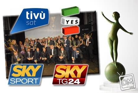 Hot Bird Tv Awards - TivùSat, Yes Italia, Sky Tg 24, Sky Sport 24