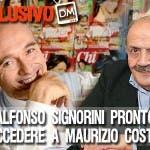 Maurizio Costanzo e Alfonso Signorini