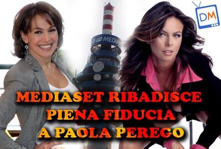 Mediaset ribadisce piena fiducia a Paola Perego