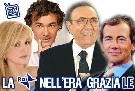 Rai (Milly Carlucci, Pippo Baudo, Masismo Giletti, Michele Cucuzza)